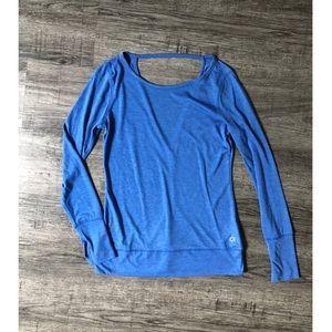 NWOT GapFit Blue Long Sleeve Athletic Top